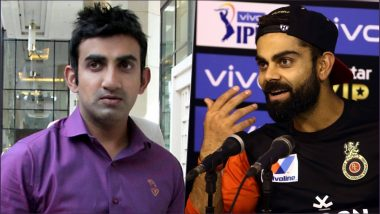 RCB's Virat Kohli Gives a Befitting Reply To Gautam Gambhir Ahead of IPL 2019 Opening Match Against CSK